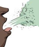 Person Sneezing isolato Fotografia Stock Libera da Diritti