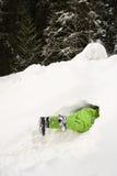 Person in snow Stock Photo