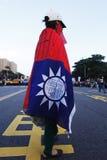 Person som protesterar i Taiwan Royaltyfri Fotografi
