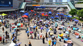 Person som protesterardödläge på amiralitetet, Hong Kong Royaltyfria Foton