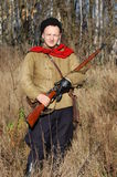 Person in Soviet WW2 military uniform Stock Image