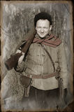 Person in Soviet WW2 military uniform Royalty Free Stock Photography
