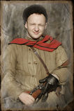 Person in Soviet WW2 military uniform Stock Photography