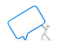Person with speech bubble Royalty Free Stock Photo