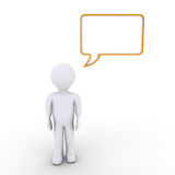 A person and a speech bubble Stock Images