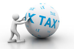 Person with Sphere from tax Royalty Free Stock Images