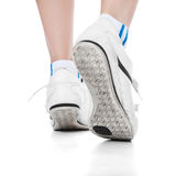 Person in sports shoes Stock Image