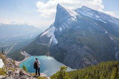 Person Standing on Mountain during Day Time Royalty Free Stock Photography