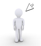 Person is standing and a mouse pointer Royalty Free Stock Images