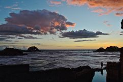 Person Standing by the Sea Royalty Free Stock Photography