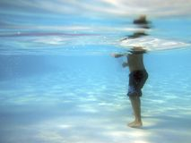 Person standing in water Royalty Free Stock Images