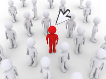 Person stands out by a mouse pointer Stock Photography