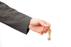 Person stretching keys Royalty Free Stock Images