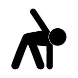 Person stretching pictogram icon. Simple flat design person stretching pictogram icon  illustration Stock Photos