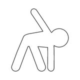 Person stretching pictogram icon. Simple flat design person stretching pictogram icon  illustration Royalty Free Stock Photo