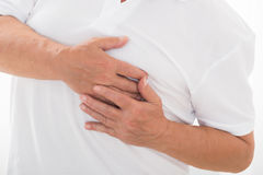 Person Suffering From Heart Pain Stock Photos