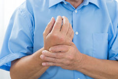 Person Suffering From Wrist Pain Royalty Free Stock Photo