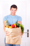 Person supermarket Stock Photography