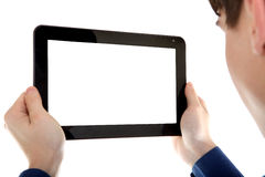 Person with Tablet Computer Stock Image