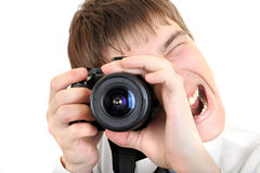 Person Take a Picture with a Camera Royalty Free Stock Photography