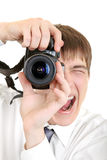 Person Take a Picture with a Camera Royalty Free Stock Photos