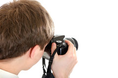 Person Take un'immagine con una macchina fotografica Fotografia Stock