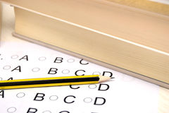 Person taking an exam Stock Images