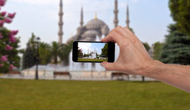 Person taking a photo in Istanbul Stock Photos