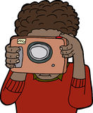 Person Taking Pictures Fotografia Stock Libera da Diritti