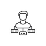 Person with tasks line icon, outline vector sign Stock Images