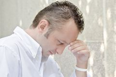 A person thinking. A young philosopher royalty free stock photo
