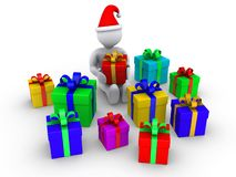 Person is about to open presents Royalty Free Stock Photo