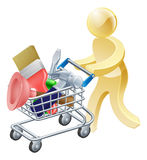 Person with tools shopping cart Stock Images