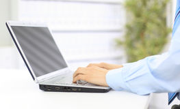 Person Typing on a modern Stock Photography