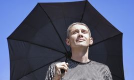 The person with an umbrella Royalty Free Stock Photography