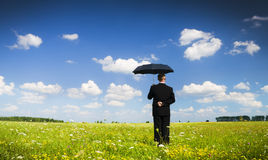 The person with an umbrella Royalty Free Stock Images