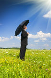 The person with an umbrella Stock Photo