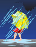 Person under umbrella Stock Image