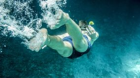 Person in Underwater Stock Photography
