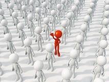 Person unterschiedlich zu der Masse lizenzfreie abbildung