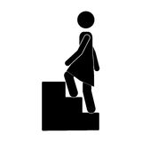 Person up the stairs Stock Image