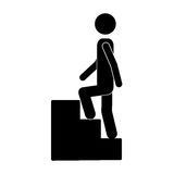 Person up the stairs Stock Photography