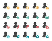 Person and user icon set. Vector and illustration royalty free illustration
