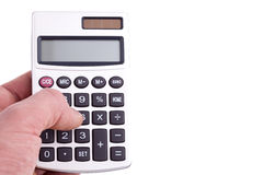 Person using calculator Royalty Free Stock Image