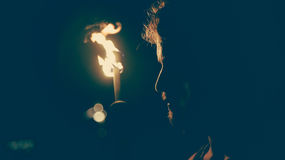 Person Using a Fire Torch Royalty Free Stock Photography