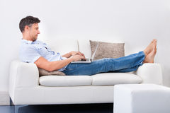 Person Using Laptop Royalty Free Stock Photo