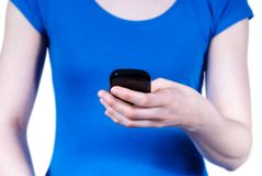 Person using a mobile phone Royalty Free Stock Photo