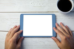 Person using tablet computer Stock Photography