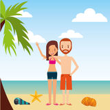Person on vacations holidays. Vector illustration design Royalty Free Stock Photo