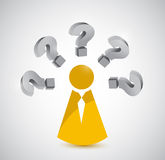 Person with various questions. illustration design Royalty Free Stock Image